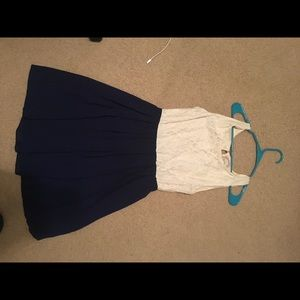 Blue and off white dress from Francesca's